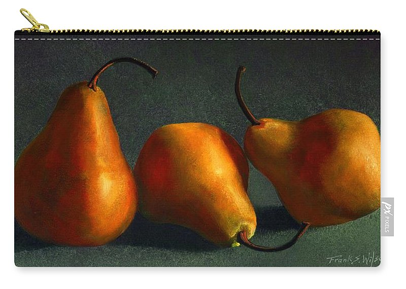 Still Life Carry-all Pouch featuring the painting Yellow Pears by Frank Wilson