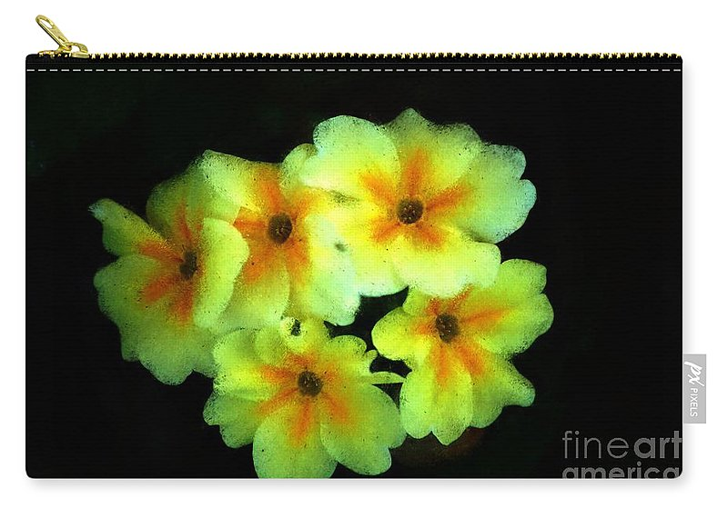 Digital Photo Carry-all Pouch featuring the photograph Yellow Primrose 5-25-09 by David Lane