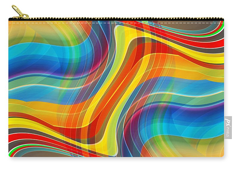 Abstract Carry-all Pouch featuring the digital art Yellow Road by Ruth Palmer