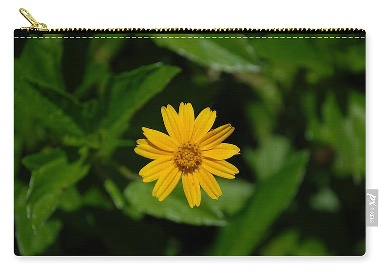 Macro Carry-all Pouch featuring the photograph Yellow by Rob Hans