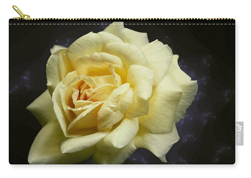 Yellow Rose Carry-all Pouch featuring the photograph Yellow Rose 2 by Tim Allen