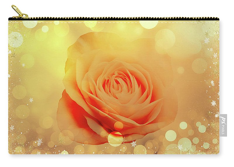 Rose Carry-all Pouch featuring the photograph Yellow Rose And Joy by Johanna Hurmerinta