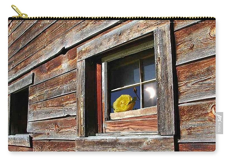 Barn Carry-all Pouch featuring the digital art Yellow Rose Eclipse by Tim Allen