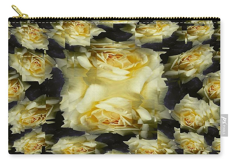 Rose Carry-all Pouch featuring the photograph Yellow Roses 2 by Tim Allen