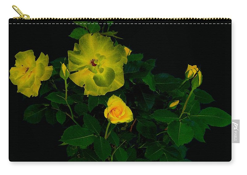 Rose Carry-all Pouch featuring the photograph Yellow Roses by Helmut Rottler
