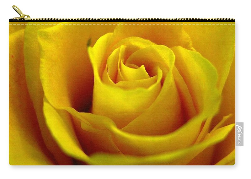Tea Rose Carry-all Pouch featuring the photograph Yellow Tea by Rhonda Barrett