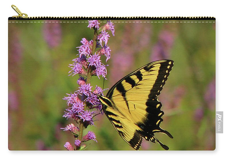 Nature Carry-all Pouch featuring the photograph Yellow Tiger by Peg Urban