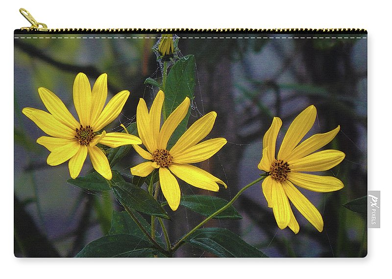 Summer Carry-all Pouch featuring the photograph Yellow Trined by Wild Thing