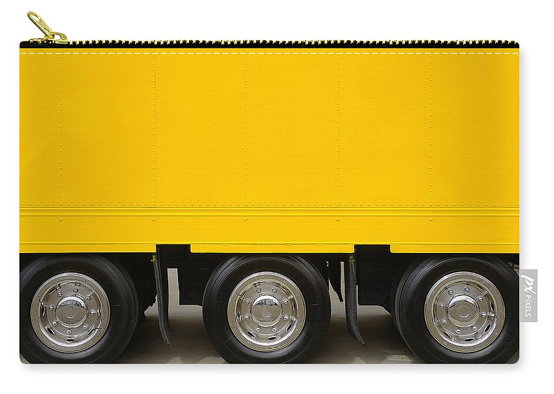 Advertising Carry-all Pouch featuring the photograph Yellow Truck by Carlos Caetano