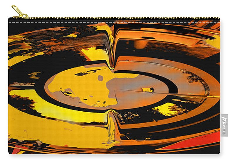 Abstract Carry-all Pouch featuring the digital art Yellow Vortex by Ian MacDonald