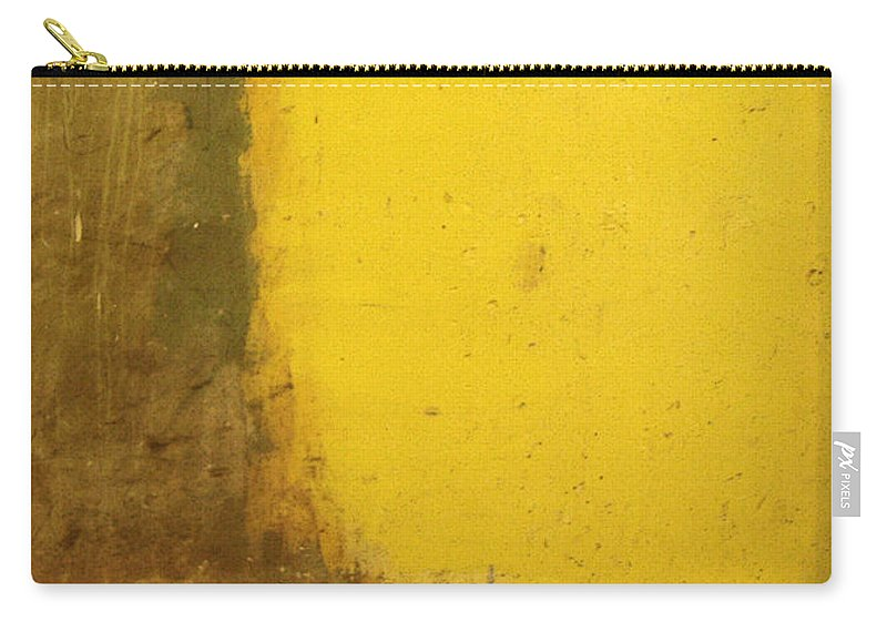 Yellow Carry-all Pouch featuring the photograph Yellow Wall by Tim Nyberg