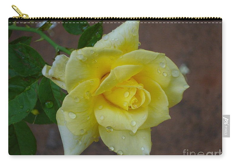 Rose Carry-all Pouch featuring the photograph Yellow Yellow by Nila D