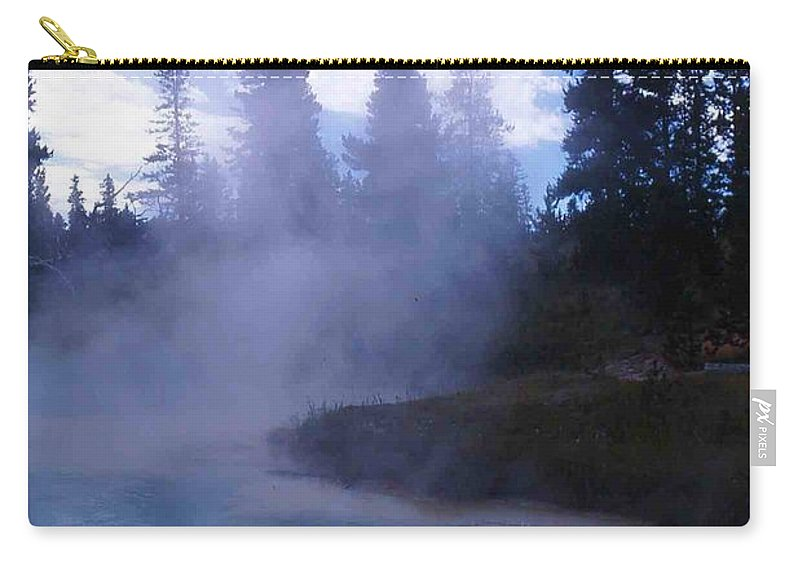 Yellowstone Carry-all Pouch featuring the photograph Yellowstone Haze by Nelson Strong