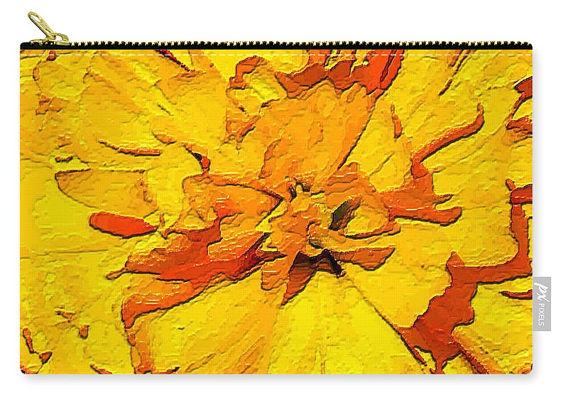 Tulip Carry-all Pouch featuring the painting Yelow Tulip by Dragica Micki Fortuna