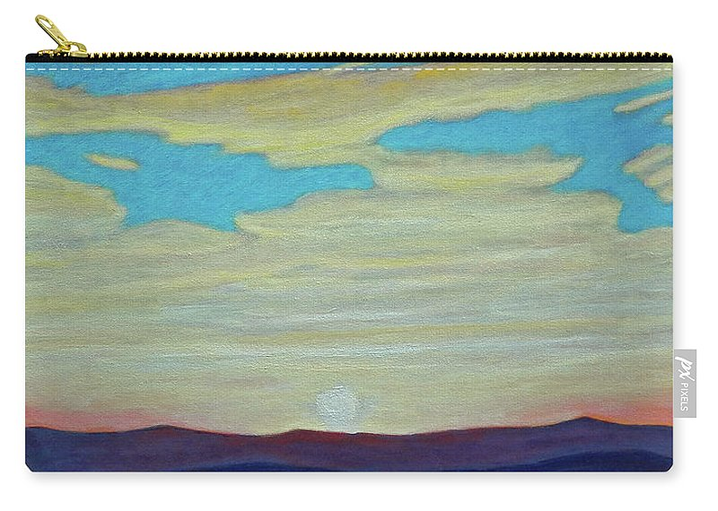Landscape Carry-all Pouch featuring the painting Yesterday by Brian Commerford