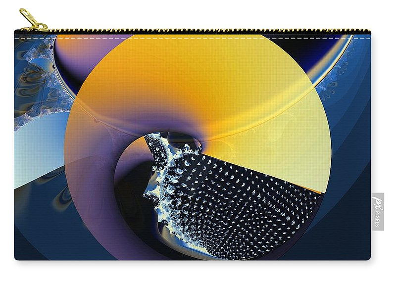 Yin-yang Carry-all Pouch featuring the digital art Yin-yangy by Ron Bissett