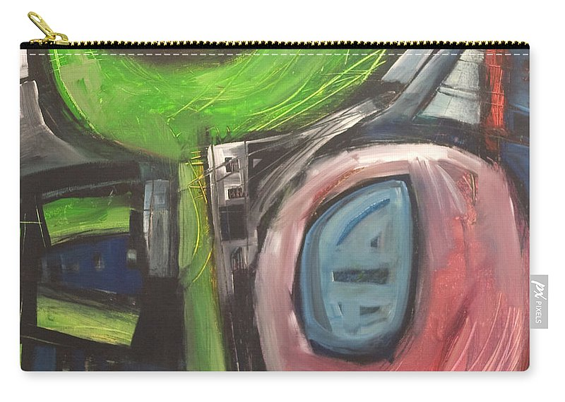 Abstract Carry-all Pouch featuring the painting YO by Tim Nyberg