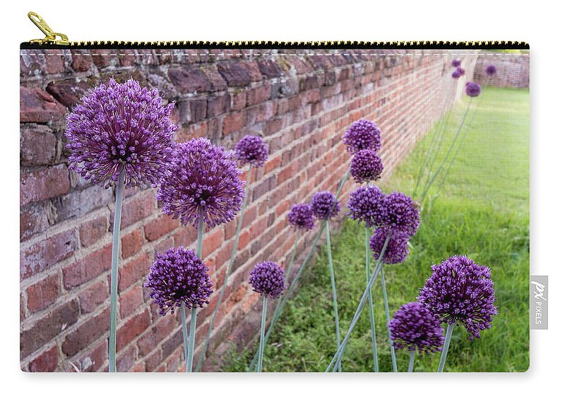 Allium Carry-all Pouch featuring the photograph Yorktown Onions Along The Wall by Nancy Comley
