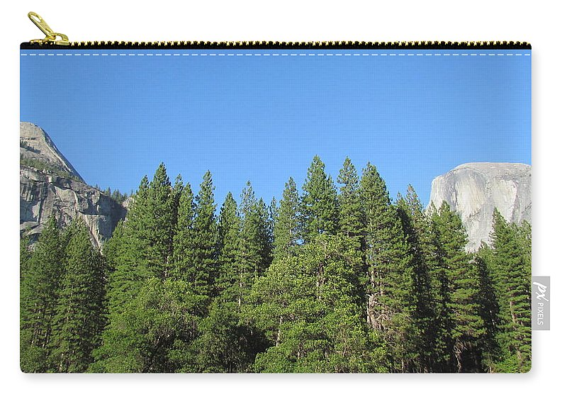 Yosemite Carry-all Pouch featuring the photograph Yosemite Domes by Derek Ryan Jensen