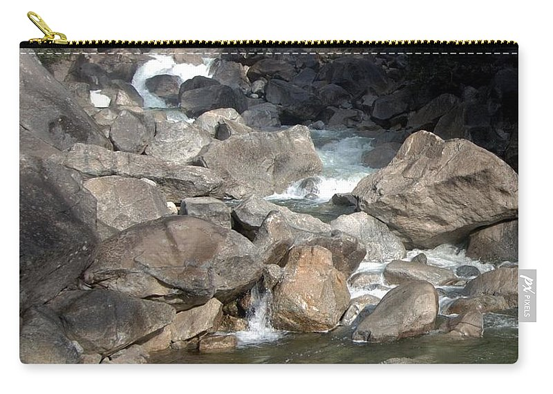 California Parks Carry-all Pouch featuring the photograph Yosemite Falls Rainbow by Norman Andrus