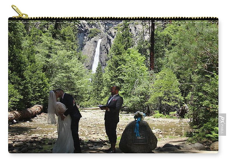 Carry-all Pouch featuring the painting Yosemite Wedding by Travis Day