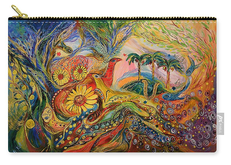 Original Carry-all Pouch featuring the painting Yotvata Village by Elena Kotliarker
