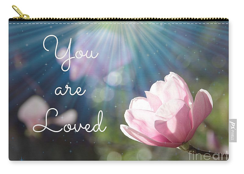 Love Carry-all Pouch featuring the photograph You Are Loved by Carol Groenen