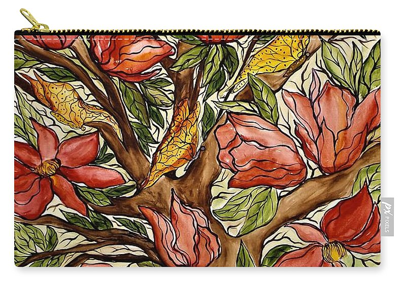 Flowers Carry-all Pouch featuring the painting You Are Loved by Lisa Aerts