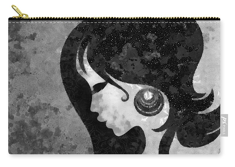 Wonder Carry-all Pouch featuring the mixed media You Are The Only One 2 by Angelina Vick