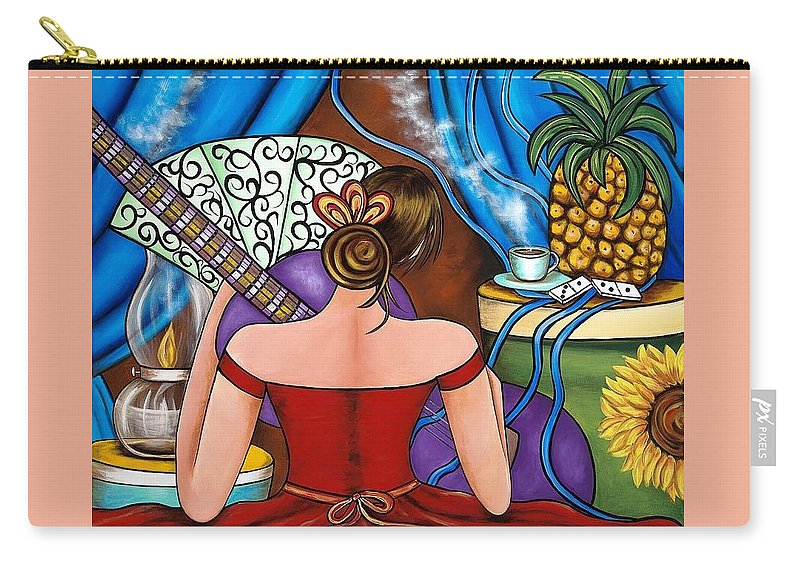 Cuba Carry-all Pouch featuring the painting You Belong To Me by Annie Maxwell