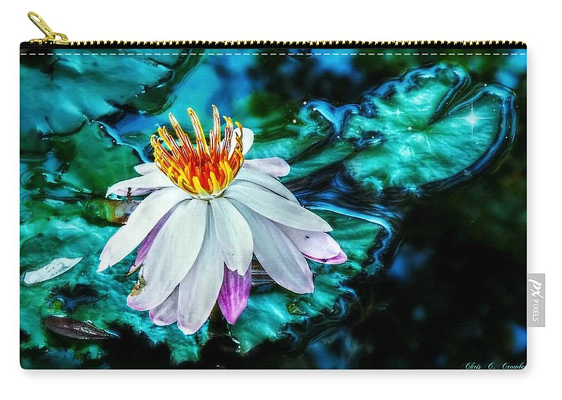 water Lily Carry-all Pouch featuring the photograph You Can Do Magic by Chris Crowley