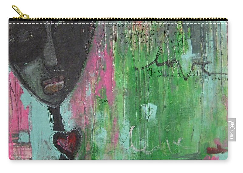 Figurative Carry-all Pouch featuring the painting You Cant Ask For More by Laurie Maves ART