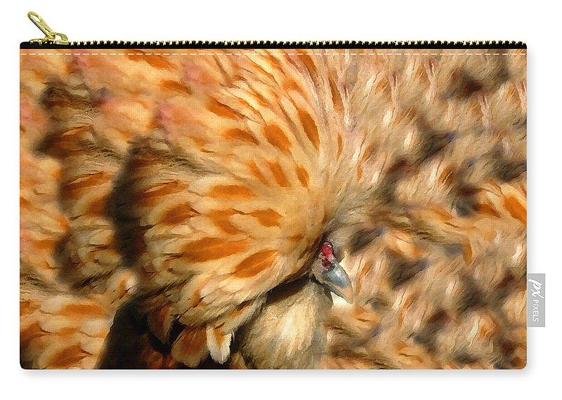 Chicken Carry-all Pouch featuring the painting You Chicken by David Lee Thompson