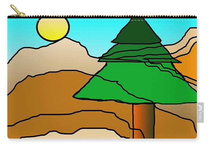 Digital Art Carry-all Pouch featuring the digital art You Dared Me by David Lane