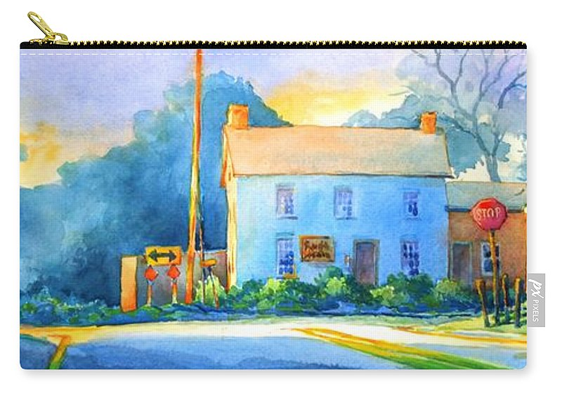 Landscape Carry-all Pouch featuring the painting You Must Go Left Or Right by Virgil Carter
