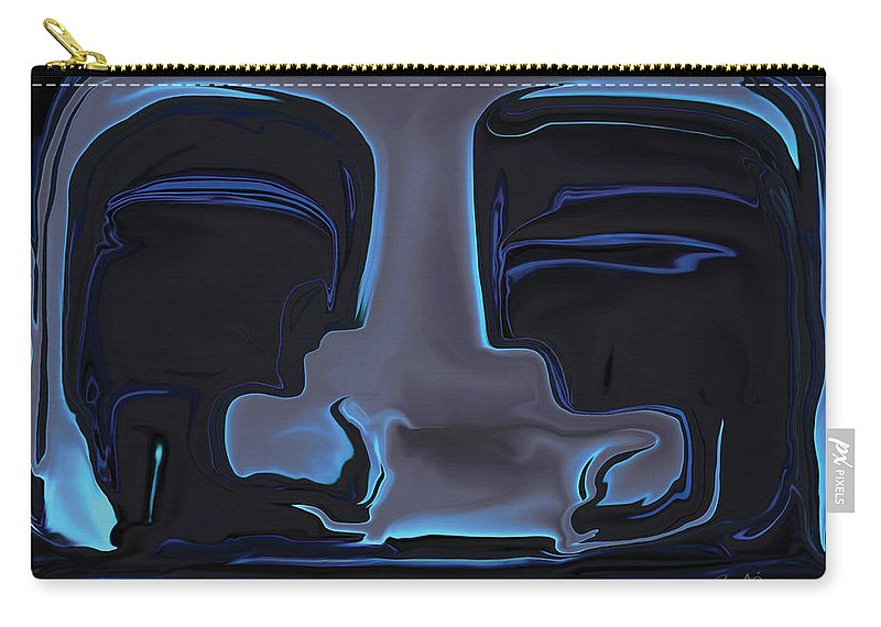 Black Carry-all Pouch featuring the digital art You N Me by Rabi Khan