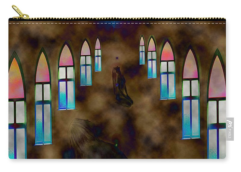 Woman Pray Nude Adult Stained Glass Windows Naked Star Conceptual Carry-all Pouch featuring the photograph You Pray For by Andrea Lawrence