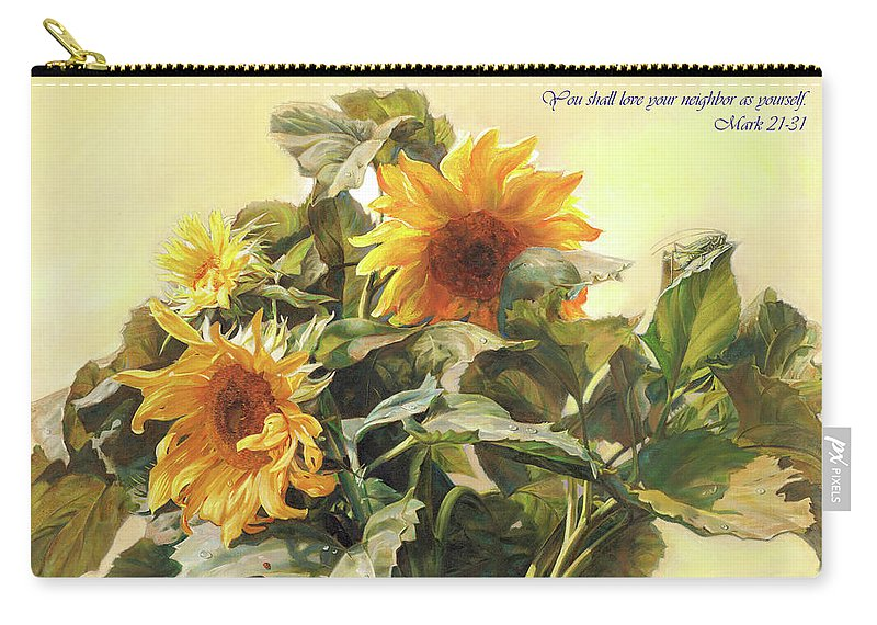 New Testament Carry-all Pouch featuring the painting You Shall Love Your Neighbor As Yourself by Svitozar Nenyuk