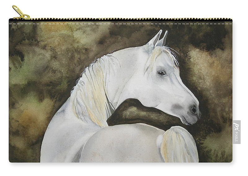 Horse Carry-all Pouch featuring the painting You Talking To Me by Jean Blackmer