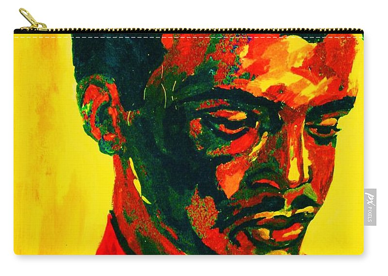 Africa Carry-all Pouch featuring the painting Young African Man by Carole Spandau