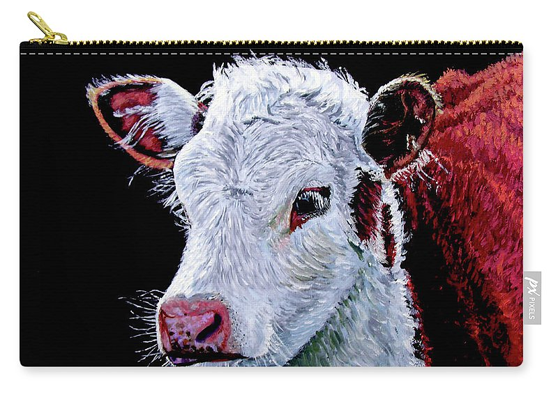 Calf Carry-all Pouch featuring the painting Young Bull by Stan Hamilton