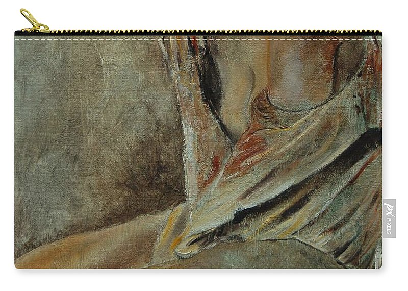 Gir Carry-all Pouch featuring the painting Young Girl 45905040 by Pol Ledent