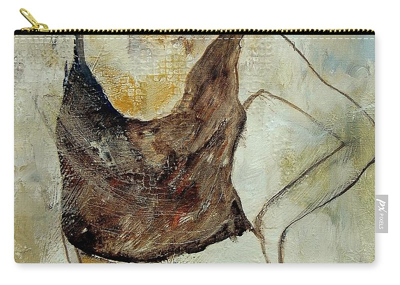 Nude Carry-all Pouch featuring the painting Young Girl 459070 by Pol Ledent