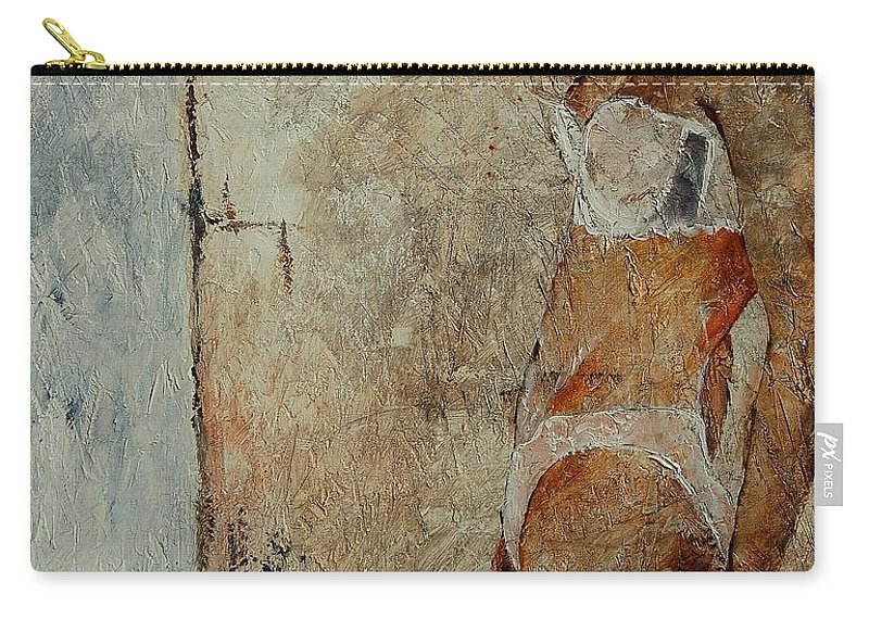 Girl Carry-all Pouch featuring the painting Young Girl 563548 by Pol Ledent