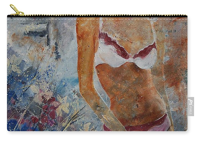 Girl Carry-all Pouch featuring the painting Young Girl 5689652 by Pol Ledent