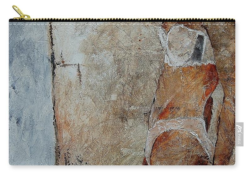 Carry-all Pouch featuring the painting Young Girl 572563 by Pol Ledent