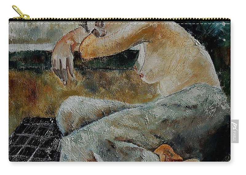 Girl Carry-all Pouch featuring the painting Young Girl 679050 by Pol Ledent