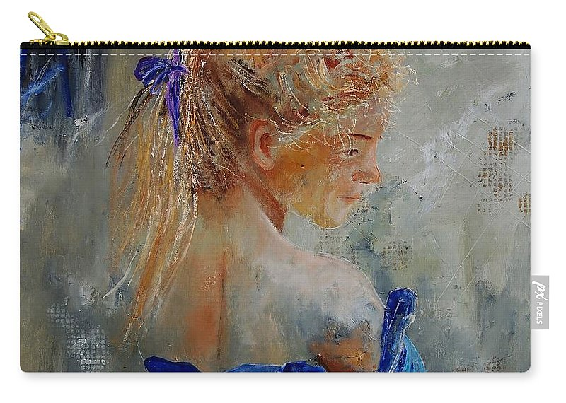 Gir Carry-all Pouch featuring the painting Young Girl 78 by Pol Ledent