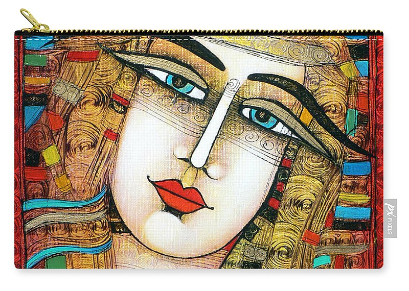 Girl Carry-all Pouch featuring the painting Young Girl by Albena Vatcheva