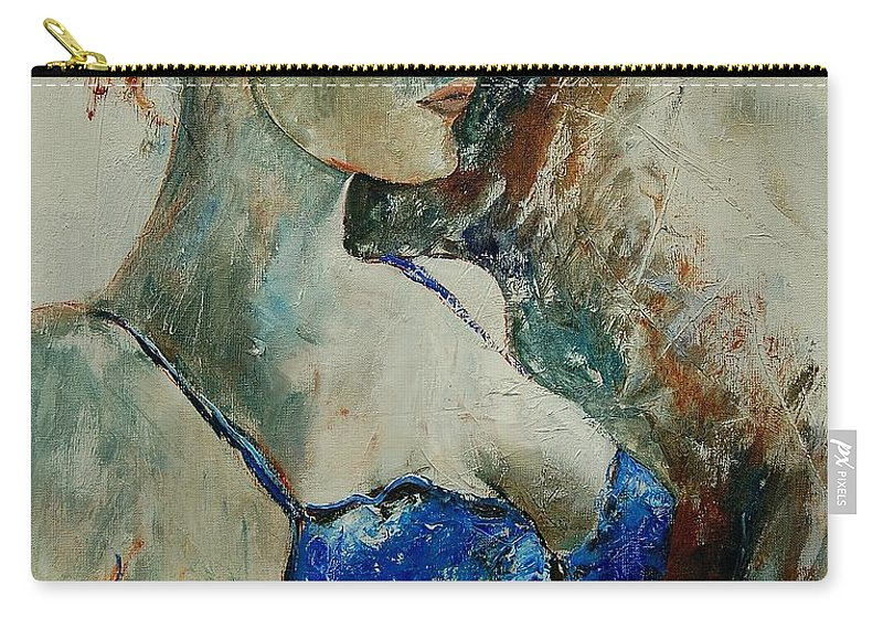 Nude Carry-all Pouch featuring the painting Young Lady 56 by Pol Ledent